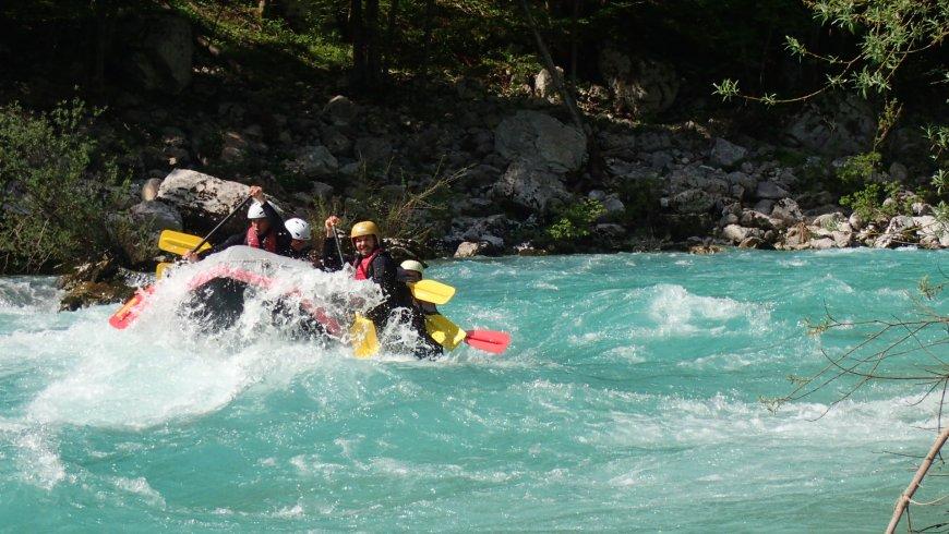 Rafting, Soca, Szlovénia