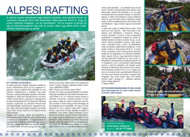 Alpes rafting cikk