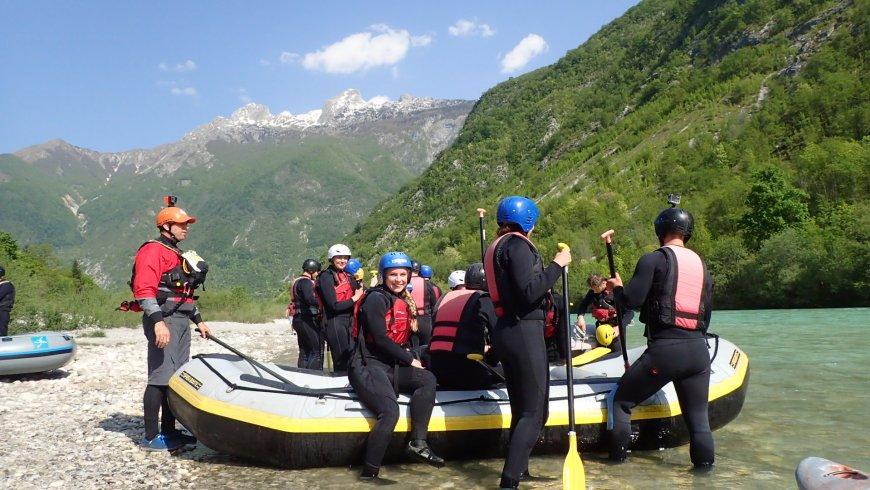 Szlovénia Soca rafting Bovec