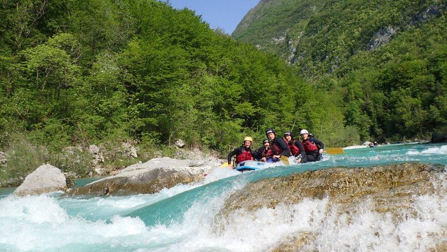 Szlovénia rafting Bovec